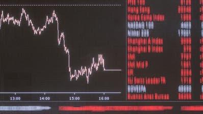 Schweizer Börse im Abwärtsstrudel nach internationalen Kursstürzen