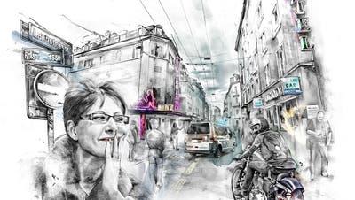 Rotlichtmilieu und Hells Angels: Jutta Huber bekam in Strassburg Recht. (Illustration aus dem Buch: Kornel Stadler)