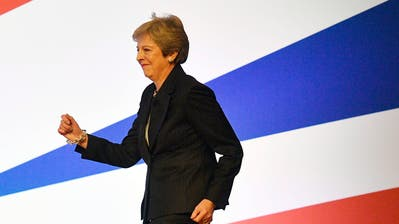 Englands Premierministerin Theresa May. (Bild: Neil Hall/EPA (Birmingham, 3. Oktober 2018))