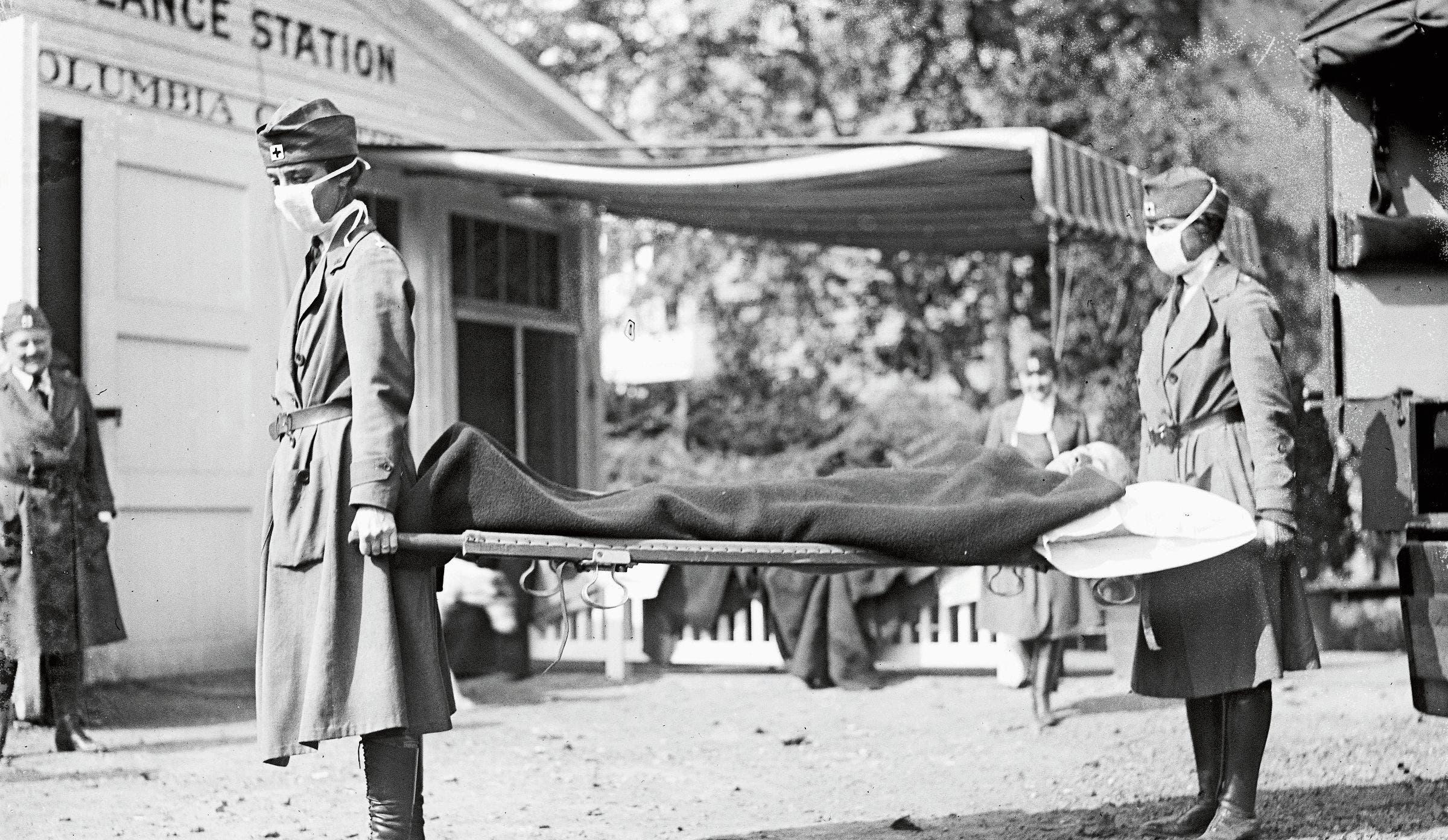 Erkrankte werden 1918 im Walter-Reed-Militärspital in Washington versorgt. (Bild: Bilder: Wikimedia Commons)
