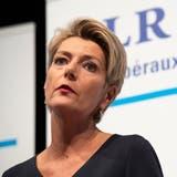 Gilt als Kronfavoritin bei der FDP: Die St.Gallerin Karin Keller-Sutter. (Bild: Gian Ehrenzeller/Keystone)