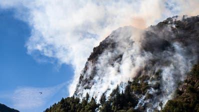 Die aktuelle Waldbrandgefahr in der Schweiz. (Bild: www.naturgefahren.ch)