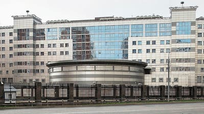 Hauptquartier des russischen Militärgeheimdienstes GRU in Moskau, das auch «Aquarium» genannt wird. (Pavel Golovkin/AP, 14. Juli 2018)
