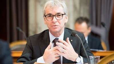 Erich Ettlin, CVP-Ständerat aus Obwalden, im Parlament. (Bild:KEYSTONE/Anthony Anex, 20. September 2016))