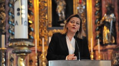 Die Urner CVP-Regierungsrätin Heidi Z'graggen, hier anlässlich einer Buchvernissage. (Bild Urs Hanhart, 24.10.2017)