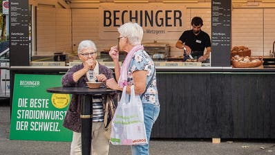 Bratwurst-Posse an der Olma: Bechinger-Werbung zensuriert
