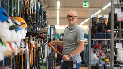 Noch ist Ralph Strahberger, Geschäftsführer der Krienser Bächli-Filiale, im Schappe-Center tätig – im Mai 2019 wechselt das Geschäft auf das Mattenhof-Areal. (Bild: Dominik Wunderli (Kriens, 2. Oktober 2018))