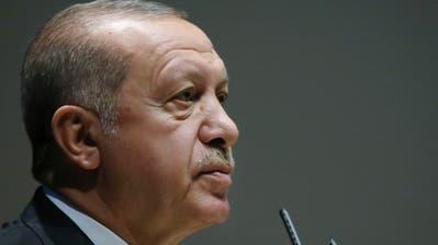 Der türkische Präsident Recep Tayyip Erdogan. (Bild: AP, Ankara, 15. Oktober 2018)