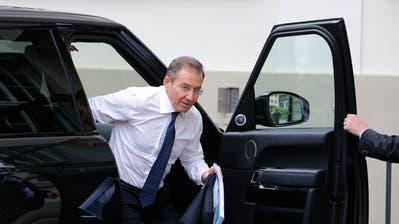 Ivan Glasenberg (61), CEO des Baarer Rohstoffkonzerns Glencore, vor der Generalversammlung des Unternehmens Anfang Mai in Zug. (Bild: Stefan Kaiser, 2. Mai 2018)