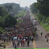 «Angriff auf unser Land»: Trump droht Migranten aus Mittelamerika