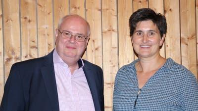 Daniel Fuchs und Katja Nobs kandidieren für das Amt des Gemeindepräsidenten. (Bild Trudi Krieg)