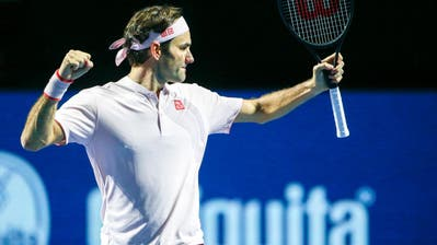 Roger Federer gewinnt. (Bild: Alexandra Wey/Keystone)