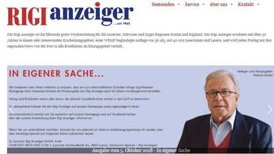 Screenshot Rigi-Anzeiger