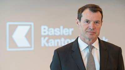 Kandidiert als Präsident der Raiffeisen-Zentrale: Chef der Basler Kantonalbank, Guy Lachappelle. (Georgios Kefalas/Keystone, Basel, 1. März 2018)