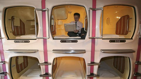 Ein Kapsel-Hotel in Japan. Bald soll in Luzern das schweizweit erste dieser Art eröffnen. (Symbolbild: Keystone)