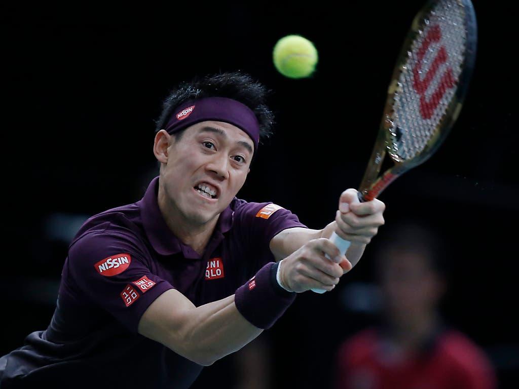 Kei Nishikori, Federers erster Gruppengegner, wartet seit viereinhalb Jahren auf einen Sieg gegen den Schweizer (Bild: KEYSTONE/AP/MICHEL EULER)