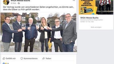 Mit diesem Eintrag auf der Facebookseite der Wiga wurde die Anfechtung des Vertrags über den Verkauf der Rechte an der Messe bekannt gegeben.