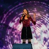 Vidhuscha Sounderrajan während ihres Auftritts bei «Kids Voice». (Bilder: PD)