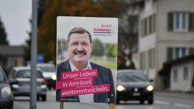 Wahlplakat von André Schlatter. (Bild: Manuel Nagel)