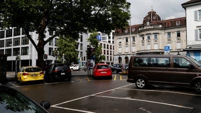 Zankapfel: der untere Postplatz. (Bild: Stefan Kaiser (Zug, 11. Juni 2018))