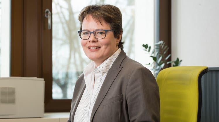Eine der wenigen Frauen auf einem CEO-Posten einer Schweizer Retailbank: Marianne Wildi, CEO der Hypothekarbank Lenzburg. (Bild: Alex Spichale, Lenzburg, 2. November 2017)