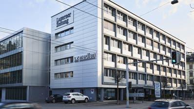 Das LZ-Medienhaus, welches zur CH-Media-Gruppe gehört, an der Maihofstrasse in Luzern. (Bild Jakob Ineichen)