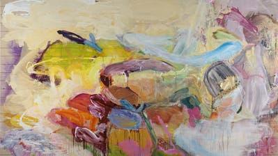 "Maria Zgraggen, ""Ohne Titel"", 2018, Acryl auf Leinwand, 240 × 370 cm. (Bild: Courtesy of the Artist)"