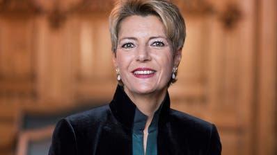 Für Karin Keller-Sutter läuft weiterhin alles wie am Schnürchen
