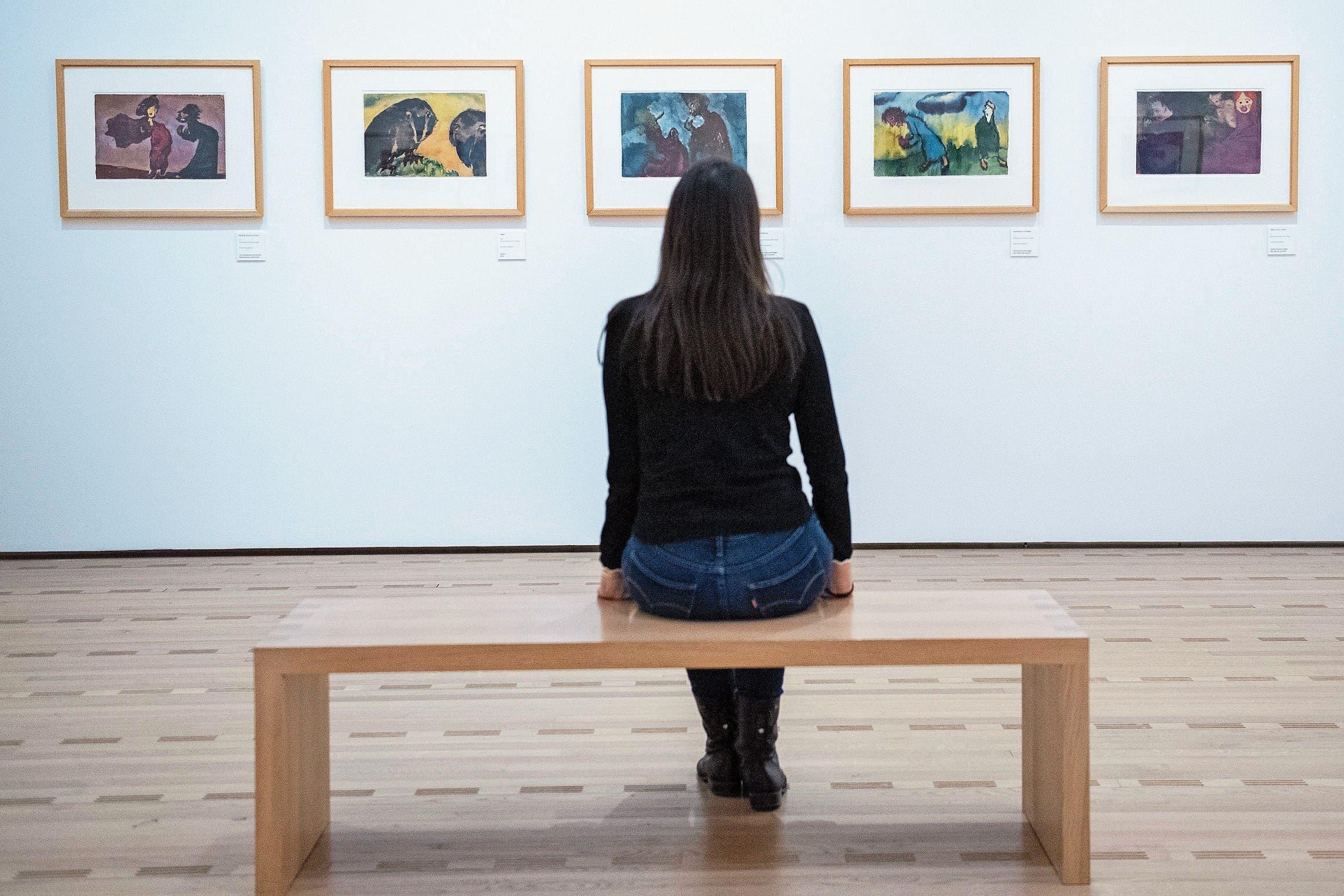 Mehr als 150 Werke, Gemälde und zahlreiche Aquarelle, zeigt das Zentrum Paul Klee. Die meisten stammen aus der Nolde Stiftung in Seebüll. (Bild: Marcel Bieri/KEY)
