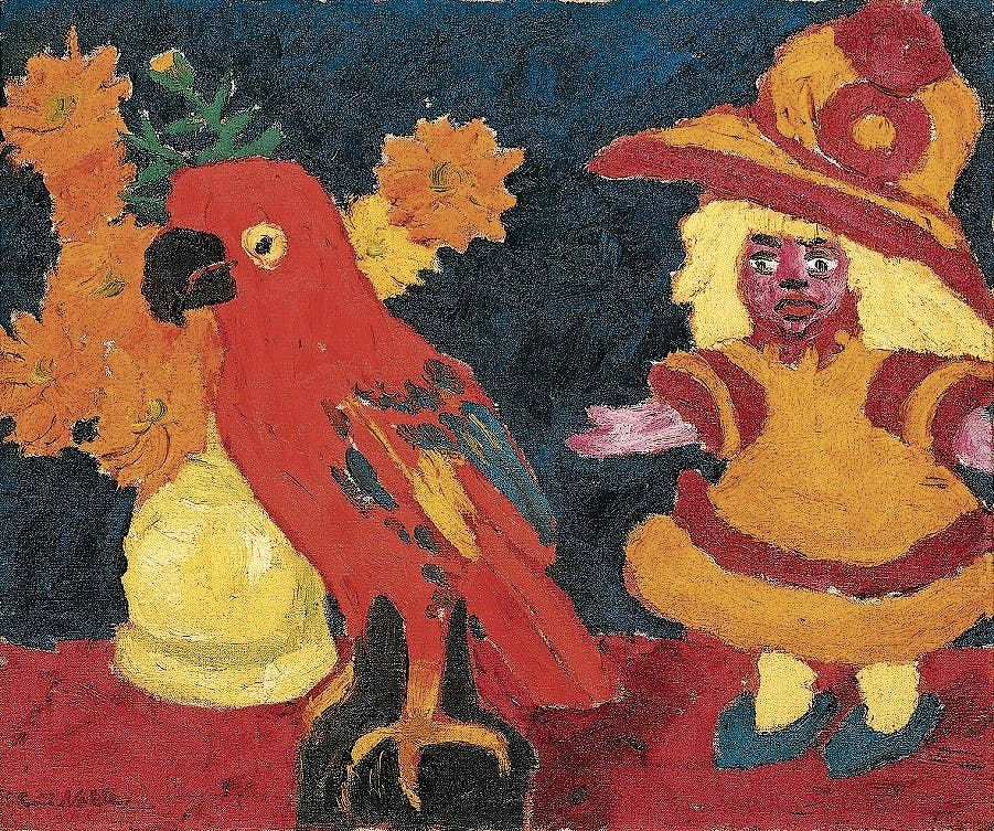 «Stillleben (Puppe, Blumen und Papagei)», 1912. (Bild: ahlers collection)