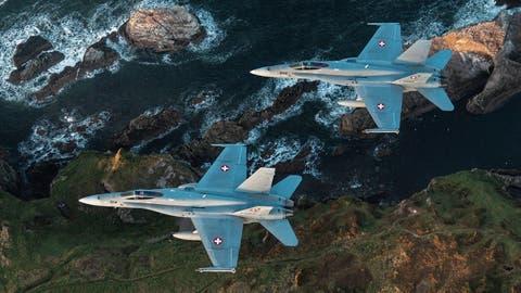 Luftkampf im hohen Norden: Die Schweizer Armee trainiert am Himmel über Schottland