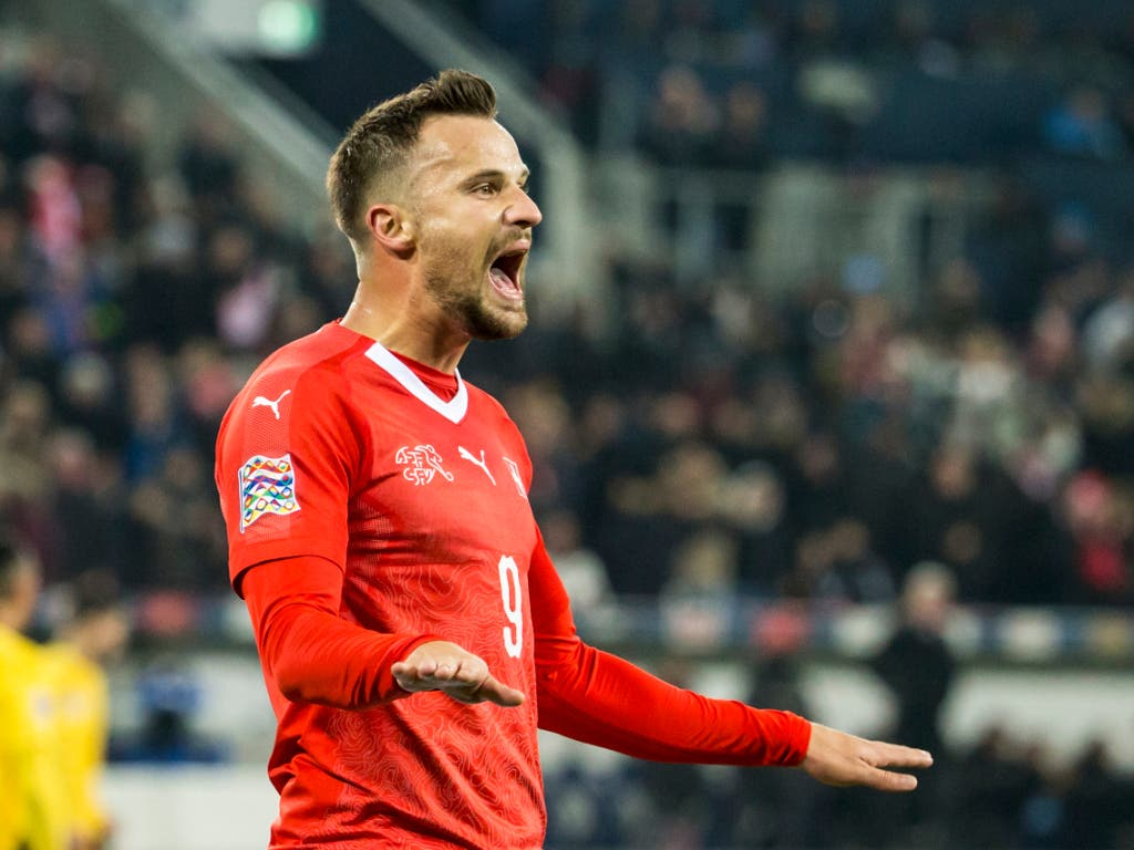 Haris Seferovic hat sich mit seinen drei Toren gegen Belgien in die Herzen der Schweizer Fans geschossen (Bild: KEYSTONE/ALEXANDRA WEY)