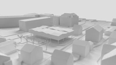 Dieses Projekt hatte an der Urne keine Mehrheit: Das Modell des geplanten Kindergartens. (Visualisierung: PD)