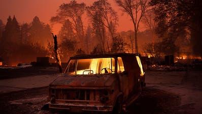 Regenfälle helfen beim Löschen des «Camp Fire» in Kalifornien