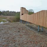 Plattform lässt Besucher Vögel und Fische am Alten Rhein beobachten
