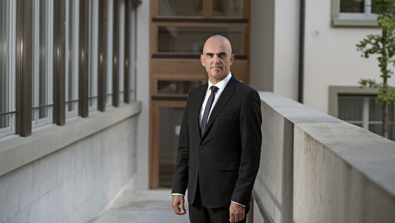 Interview mit Bundesrat Alain Berset zur Rentenreform am 14. August 2017 in Bern. (Eidgenössisches Departement des Innern) Politik