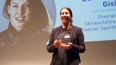 Prominentester Gast am diesjährigen WSP-Event: Olympiasiegerin und Sporthilfe-  Geschäftsführerin Dominique Gisin. (Bilder: Kurt Lichtensteiger)