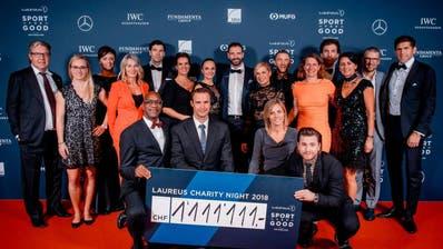 Laureus Charity Night brachte 1,111 Millionen Franken für Kinder