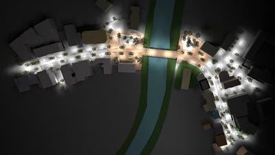So könnte das Wattwiler Zentrum dereinst bei Nacht aussehen. (Bild: PD)