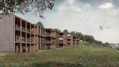 Bezahlbarer Wohnraum für Familien: Das Projekt «Spillmatte». (Visualisierung: PD)