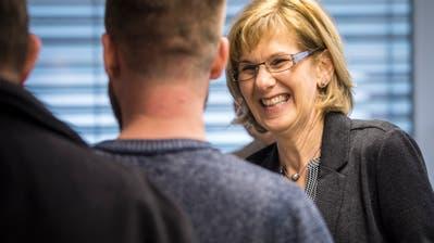 Katharina Aeschbacher ist ab Juni Gemeindepräsidentin von Warth-Weiningen. Gross ist die Freude nach der Wahl am Sonntag. (Bild: Reto Martin)