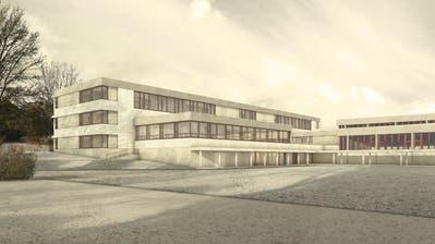 Eine Visualisierung des geplanten Erweiterungsbaus der Schulanlage Schollenholz. (Bild: PD)
