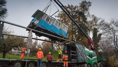 Wagen der Sonnenbergbahn. (Boris Bürgisser, Kriens, 27. November 2018)