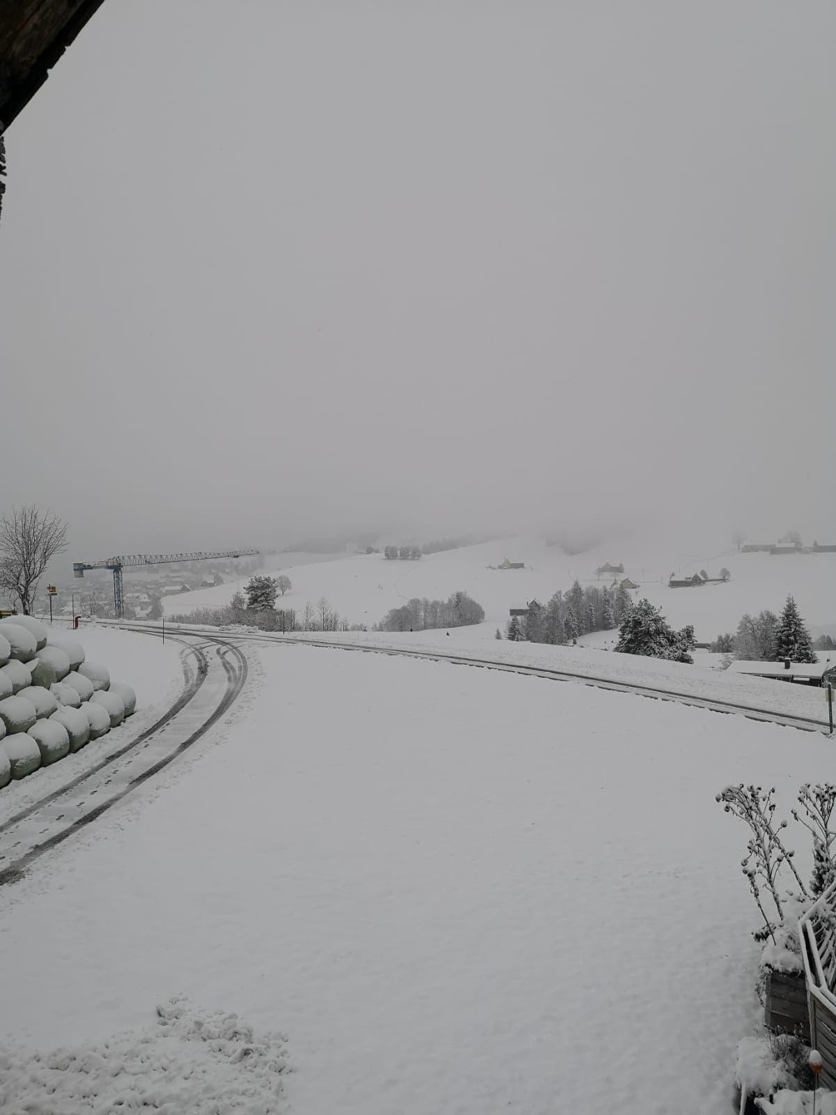 In der Region Speicher liegt mehr Schnee als in der Stadt St.Gallen. (Bild: Leserreporter)