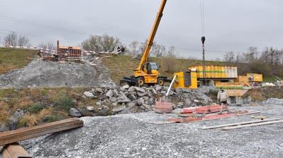 Impressionen vom Bau der Rheinbrücke Buchs-Vaduz