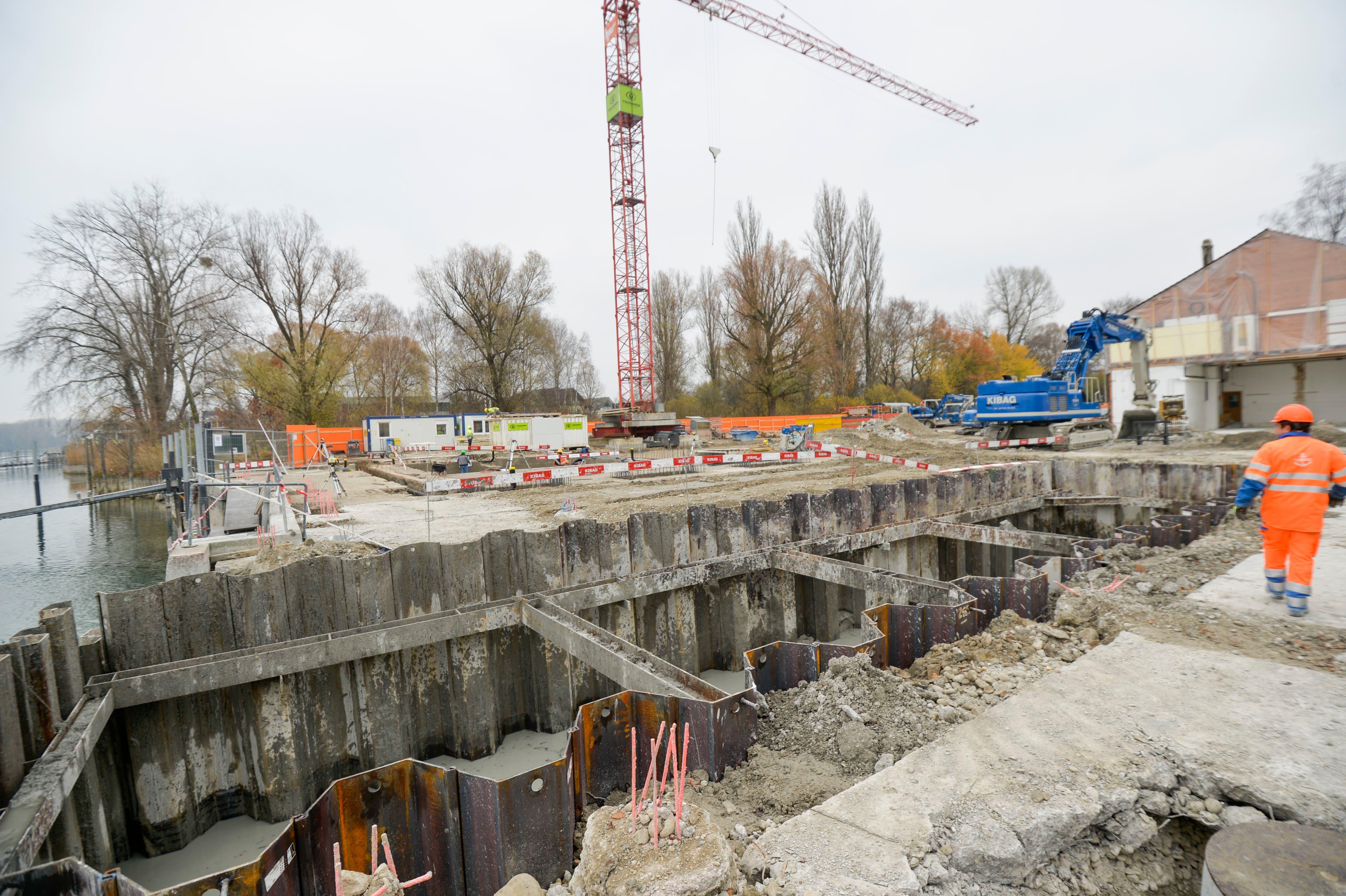 Blick auf die Baustelle. (Bild: Donato Caspari)