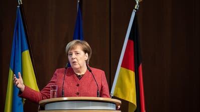 Merkel fordert friedliche Lösung von Russland-Ukraine-Konflikt