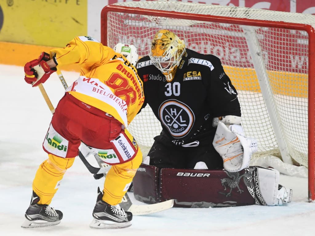 Biels Damien Brunner trifft gegen seinen ehemaligen Klub gleich dreimal (Bild: KEYSTONE/TI-PRESS/ALESSANDRO CRINARI)