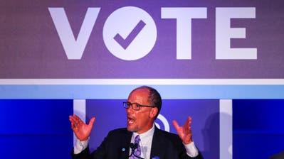 Tom Perez, Vorsitzender der Demokraten, glaubt, dass es zwei Jahre nach der Wahl von Trump eine Wechselstimmung in der Bevölkerung gibt. (Bild:Georgia, Erik S. Lesser /EPA)