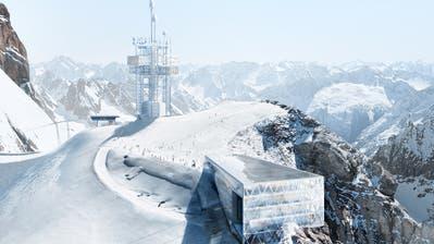 Eine Visualisierung der neuen Bergstation und des Richtstrahlturms auf dem Titlis. (Bild: PD)